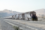 A Mix of EMD 40-series Ready to Pull &quot;Cans&quot; Up the Hill
